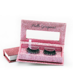 Private Label Custom Mink Wimpern 5 Paar falsche Wimpern Verpackung