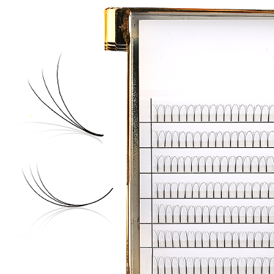 0.07mm 0.1mm premade fans lashes eyelashes false free natural false eyelashes samples handmade long root volume lashes