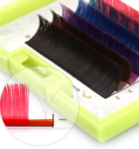Wimpernverlängerung der Farbe 0.07 c heiße Verkaufsfarbe-Wimpernerweiterung