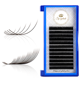 Natural Premade Real Mink Fans Volume Lashes Individual Extensiones de pestañas