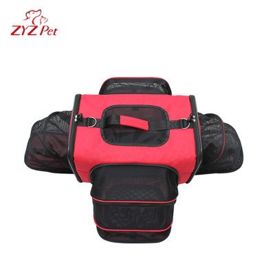 New Design Red Travel Expanded Pet Dog Carrier