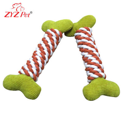 Wholesale New Design Plush Rope Dog Bone Chew Toy