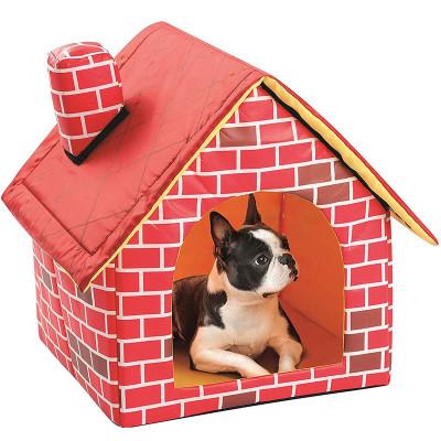 Indoor Outdoor Soft -Side Fabric Dog House