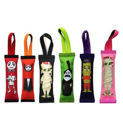 Halloween Hard Core Handles Squeak Fetch Fire Hose Pet Dog Tug Toy