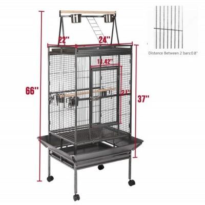 ZYZ PET large parrot pet bird cage with wheels