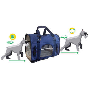Luxury Expandable Foldable Travel Dog Cat Pet Sling Bag Backpack Carrier