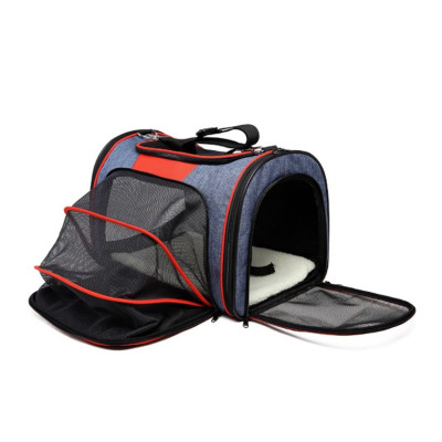 Eco-Friendly Designer Expandable Pet Cat Dog Travel Tote Bag Carrier For Puppy