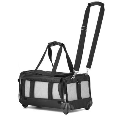 Soft Pet Travel Handbag Carrying Backpack Dog Bag Carrier With Wheels