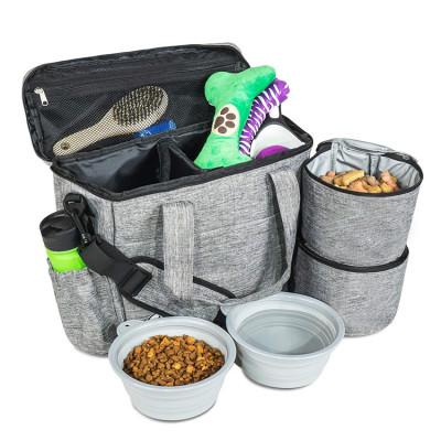 Airline Top Pet Dog Cat Food Travel Tote Backpack Bag For Dog Bowl Food Stuff