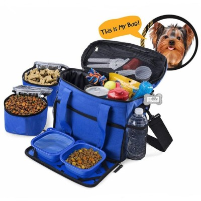 Flying Pet Travel Crate Carry  Airline Dog Backpack Bag With Dog Food Bowl