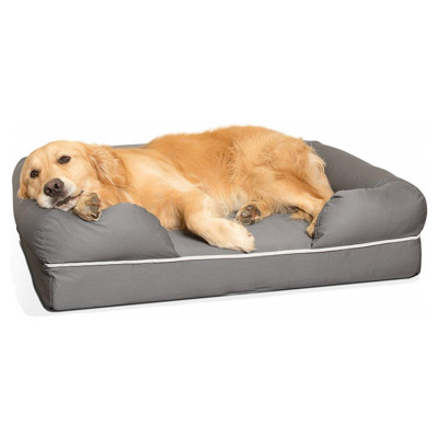 Breathable Multiple Sizes Colors medium firmness Waterproof liner Pet Dog Bed