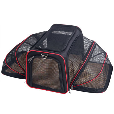 Airline Foldable Expandable Dogs Cats pet Travel Carrying Bag Pet Carrier
