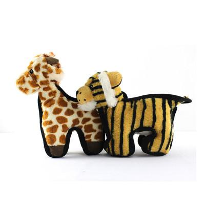 ZYZ PET Little Tiger Giraffe Plush Interactive Pet Dog Toy