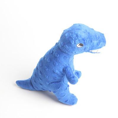 ZYZ PET Soft Blue Tyrannosaurus Pet Interactive Dog Toy