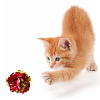 ZYZ PET Colorful Eco Friendly Squeaky Paper Balls Cat Toys
