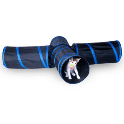 ZYZ PET Nylon Expandable Cat Play Crinkle 4 Way Cat Tunnel