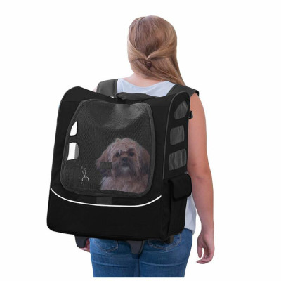 ZYZpet Mesh Breathable Handle Travel Car Seat Pet Gear Roller Backpack Carrier