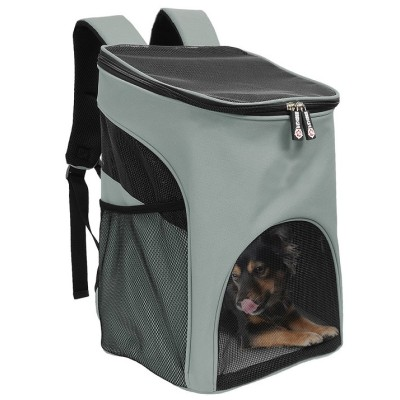 ZYZpet Custom Cute Travel Small Pet Bag Carrier Cat Dog Backpack Pet With A Dog Walk Hiking Cycling