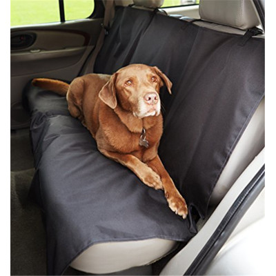ZYZpet BlackWaterproof Car Back Bench Seat Cover Protector for Pets