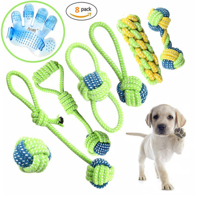 ZYZ PET 10 Pack Pet Toys Gift Set Best Durable Chew Teething Dog Rope Toy