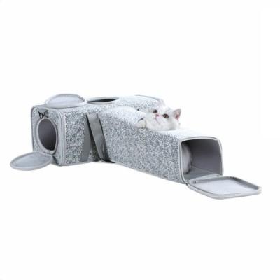 Fleece Mat Unique Designed Cat dog pet 3 Side Expandable Tote Handbag Carrier