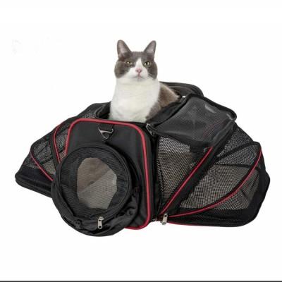 Airline Approved Soft Two Side Expansion Designed Cat Dog Pet Bag Carrier