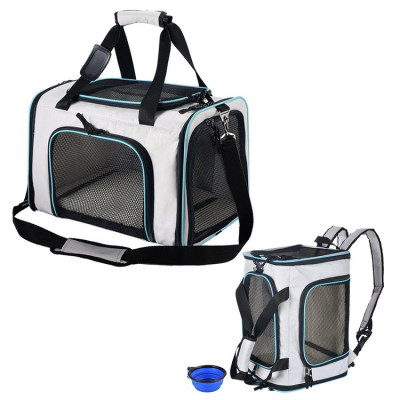 ZYZ PET Luxury Pet Carrier Backpack Airline Approved Soft Sided Cats Dogs Backpack With  Fleece Bedding