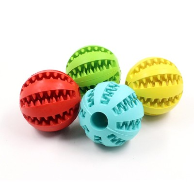 ZYZ PET Pet Rubber Ball Food Treat Feeder Pet Tooth Cleaning Toy Dog Chew Toy Soft Dog Treat Rubber Balls
