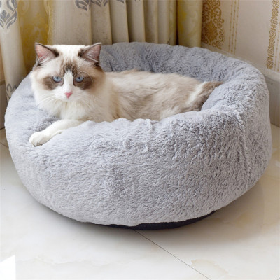 ZYZPet Factory Direct Round Animal Soft Nest Dogs Pet Cat Plush Beds For Small Dog Teddy