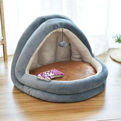 ZYZPet Factory Direct Fish Shape Sales Washable Felt Novelty Pet Dog Cat Bed