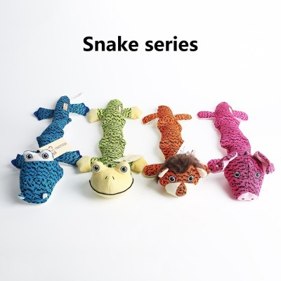 ZYZ PET Wholesale Snake Squeaky Chew Pet Dog Toys For Dog