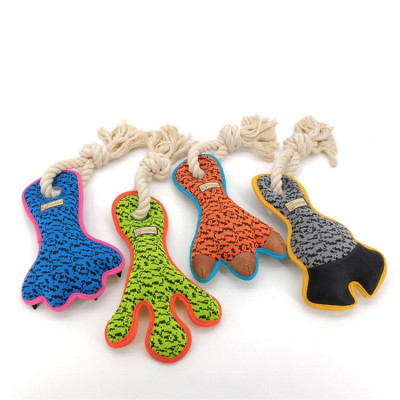 ZYZpet Wholesale Foot Cotton Rope Squeaky Chew Set Pet Dog Toys