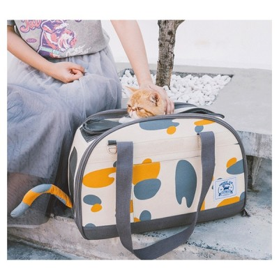 ZYZ PET Xl Girls Small Organizer Purse Soft Weekend Travel Shopping Recycled Cat Printed Handbag Carrier Pet Tote Bag For Pets