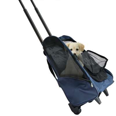 ZYZpet Airline Approved Travel Hiking 4-In-1 Pet Travel Backpack Dog Carrier With Wheels