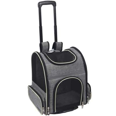 ZYZpet Airline Approved Backpack Stroller Cat Dog Pet Carrier with Detachable Wheel Assembly