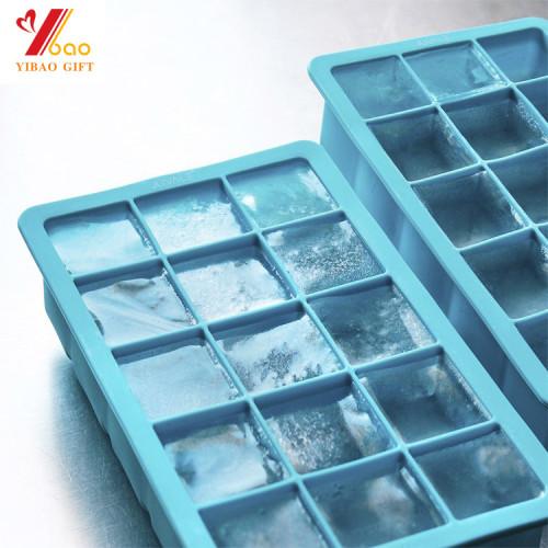 Bandeja grande popular del cubo de hielo del molde del silicón de la categoría alimenticia de la fábrica de China