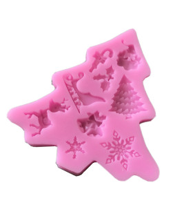 Custom Christmas Fondant Molds DIY Cake Decorating Snowman Bells Christmas Tree Silicone Sugar craft Molds FACTORY