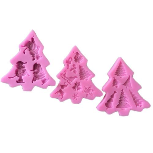 Personalizado de natal fondant moldes diy decoração do bolo sinos de natal árvore de natal de silicone açúcar craft moldes fábrica