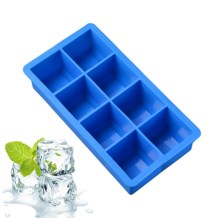 8-Cavities-Square-Food-Grade-Silicone-Ice-Cube-Tray