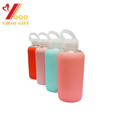 Taza de cristal de encargo de la categoría alimenticia manga de silicona de calidad alimentaria