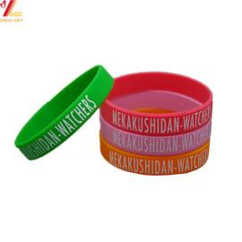 Personalizado logotipo Debossed deportes silicona pulsera para regalo de promoción