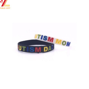 Custom Reflective Silicone Wristband with Debossed Logo