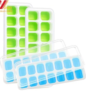 Silicone Ice Cube Tray Freezer Tray Homemade Ice Tray Mould, Factory Custom