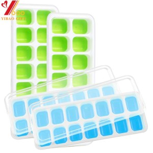 Silicone Ice Cube Tray Freezer Tray Homemade Ice Tray Mould, Factory Custom