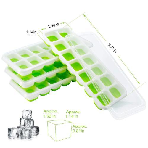 Molde hecho en casa de la bandeja de hielo de la bandeja del congelador de la bandeja del cubo de hielo del silicón, aduana de la fábrica