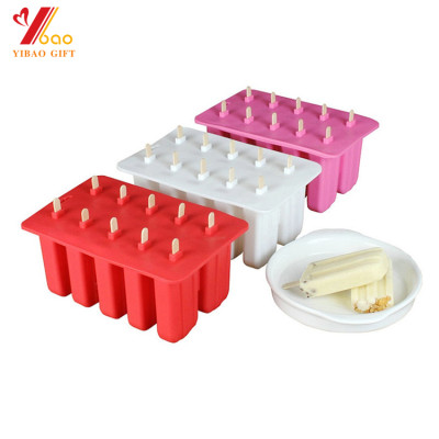 Popsicle Molds, Pop Molds Resuable DIY Ice Cream Molds Maker Frozen Ice Pop Makers Set of 10 Silicone BPA Free