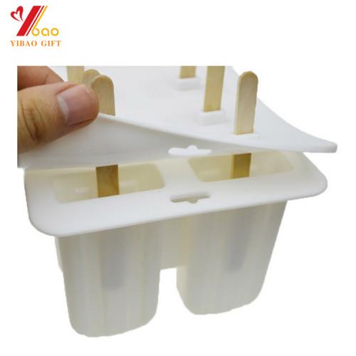 Moldes para paletas de hielo, moldes Pop Resuable DIY Moldes para helados Fabricante de helados de hielo congelado Set de 10 Silicona sin BPA