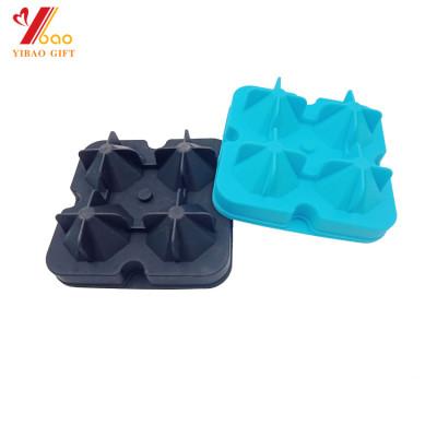 Fábrica de silicona personalizada 4 tazas del hockey sobre hielo circular.