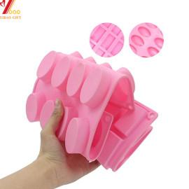 Molde de silicona para pastel de chocolate y caramelo de jabón con bolsas selladas de diseño decorativo