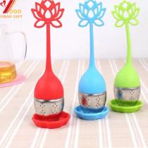 Tea Infuser Mug Silicone Tea Infuser Handle Stainless Steel Strainer Filter Infuser